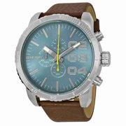 Diesel Men's Double Down DZ4330 Brown Leather Quartz Watch