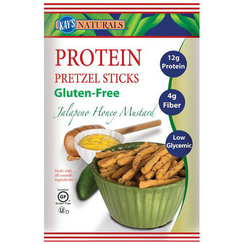 Kay's Naturals Jalapeno Honey Mustard Protein Pretzel Sticks, 1.2 oz, (Pack of 6)