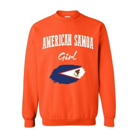 American Samoa Girl Unisex Crewneck Sweatshirt thumbnail