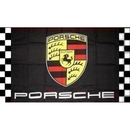 NeoPlex Porsche Checkered Polyester 3 x 5 ft. Flag (Checkered Flag Emoji)