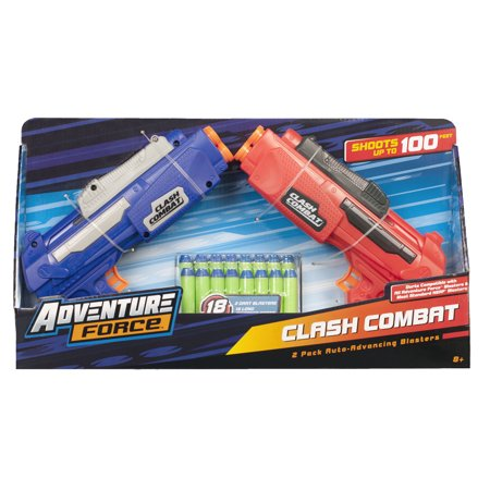 - Adventure Force Clash Combat Dart Blasters, Red and Blue, Pack of 2