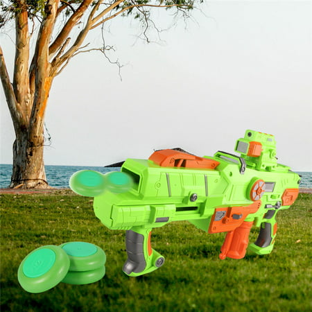 20 PCS Green Soft Flying Disc - Bullet Refill Vortex Blaster Darts Toy Gun Fast Ejection Frisbee for Outdoor Game - Kid Toy Gun Accessories - Disc Gun