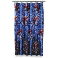 Marvel Ultimate Spiderman Hero Micro-Fiber Shower Curtain