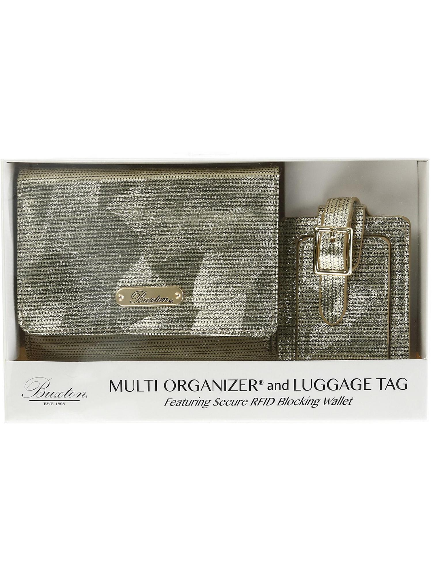 Women's RFID Organizer Wallet and Luggage Tag Gift Set