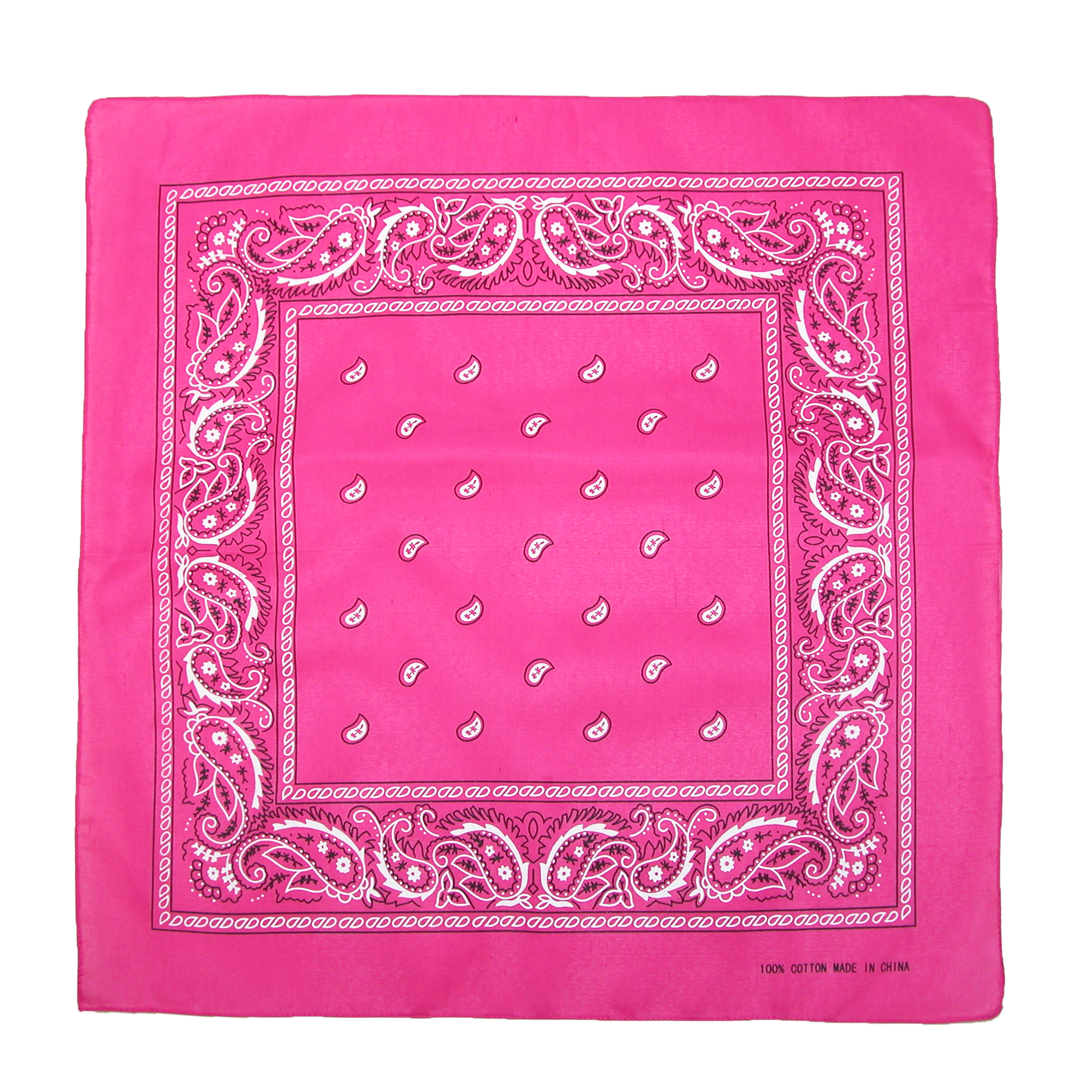 CTM®  Individually Folded & Packaged Paisley Print Cotton Bandana