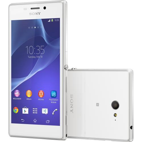 Sony 1281-8565 Sony Mobile Xperia M2 D2305 Smartphone - 8 GB Built-in Memory - Wireless LAN - 3.9G - Bar - White - SIM-free - SMS (Short Message Service), MMS (Multi-media