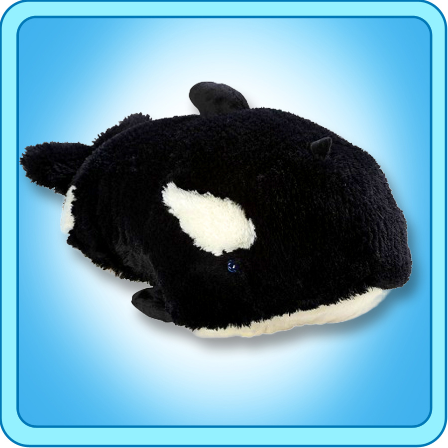 "Authentic Pillow Pets Splashy Whale Large 18"" Plush Toy Gift by My Pillow Pets"