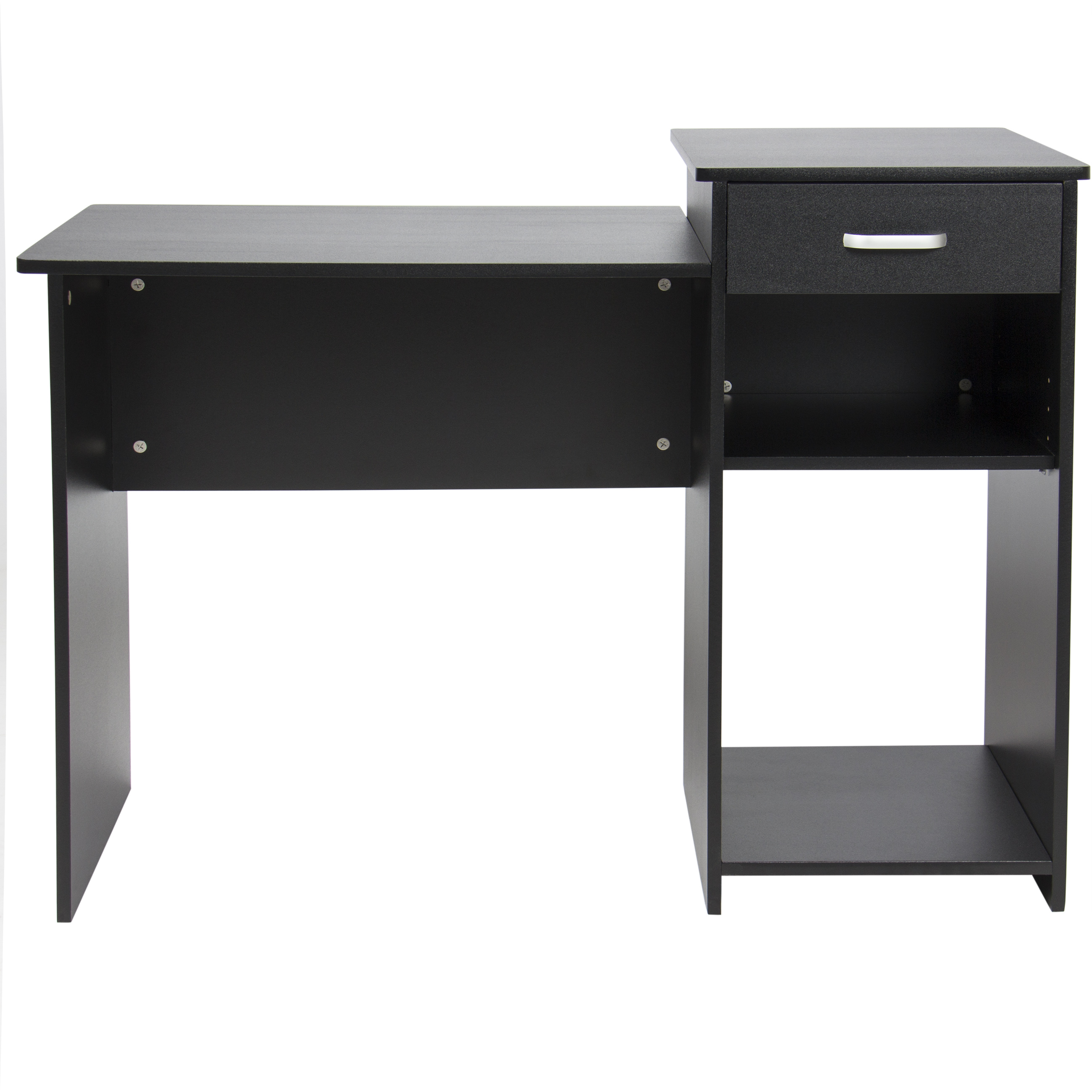 Best Choice Products Wood Computer Desk Workstation Table For Home Office Dorm W Drawer Adjule Shelf Black