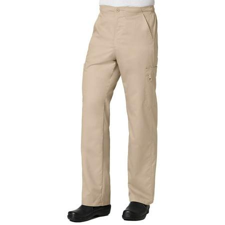 eon men's coolmax half-elastic drawstring waist cargo scrub (Petite Men)