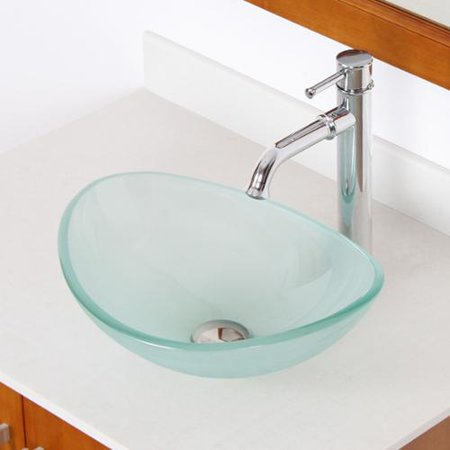 Elite unique oval frosted tempered glass bathroom vessel for Are vessel sinks out of style