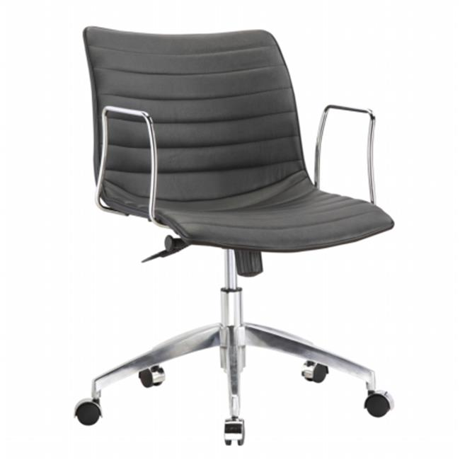 Fine Mod Imports FMI10224-black Comfy Office Chair Mid Back