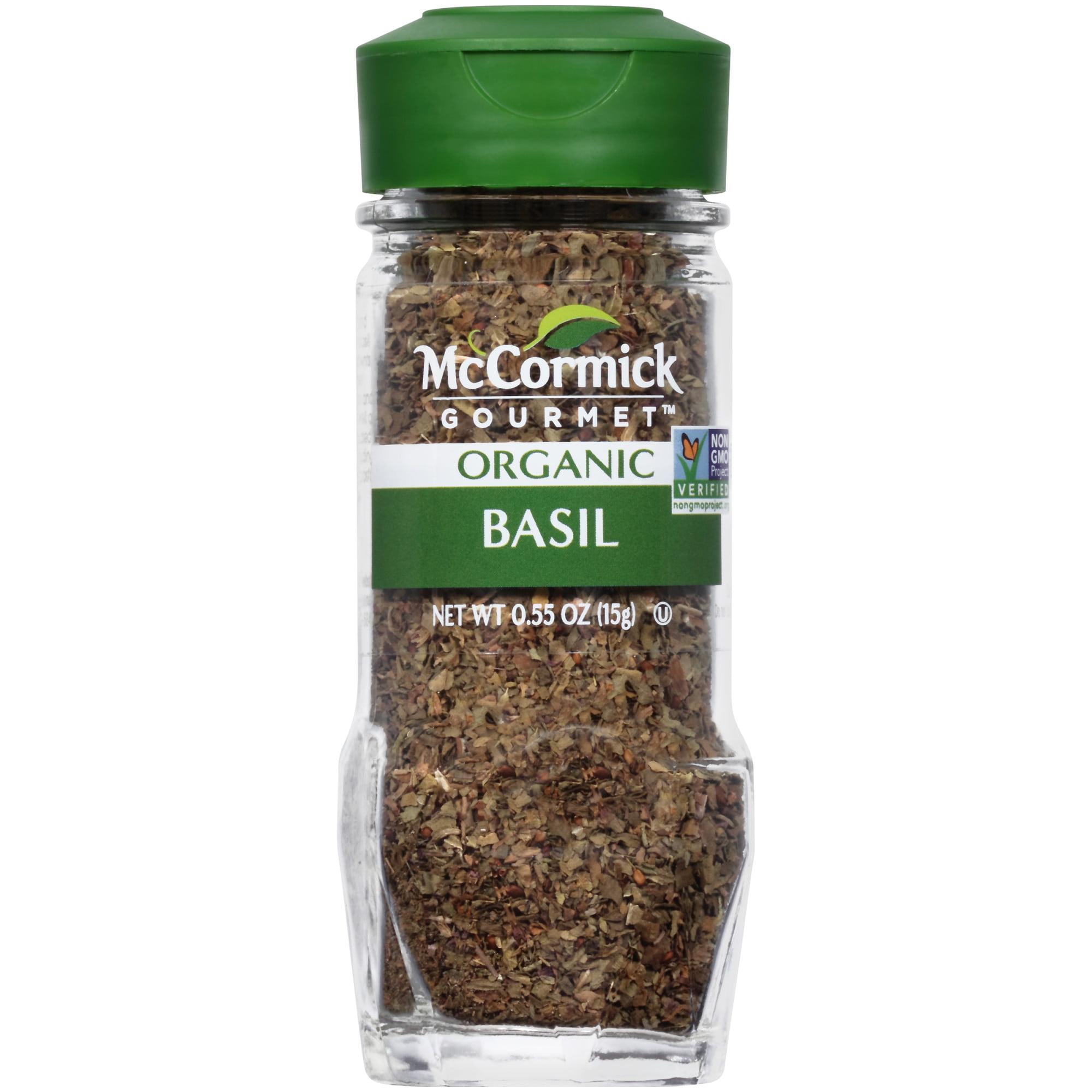 McCormick Gourmet Organic Basil Leaves, 0.55 oz