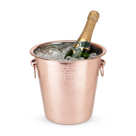 Hammered Copper Ice (Ice Bucket, Old Kentucky Hammered Copper Large Insulated Vintage Ice Buckets)
