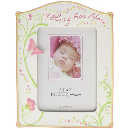 "Photo Frame, Blessing Butterfly, 3.5"" x 5"", Measures 5.25"" x 7"" By Lillian Rose"