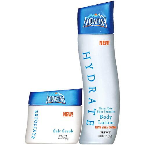 Aquafina Salt Scrub and Body Lotion Moisturize Set