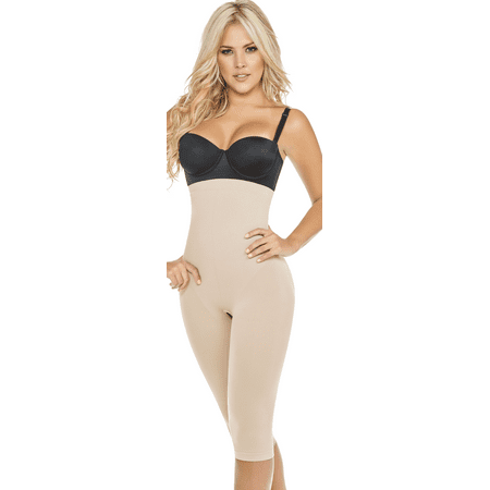 57ca635808 Shapewear ShapEager - Shapewear for women Fajas Colombianas Seamless Shaper  Butt-Lift High Panty Capri - Walmart.com