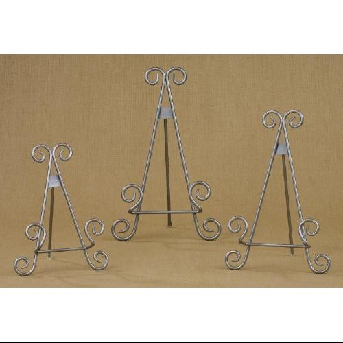 13\  Silver Finish Stratford Metal Easel Plate Display Photo Holder Stand  sc 1 st  Walmart & 13\