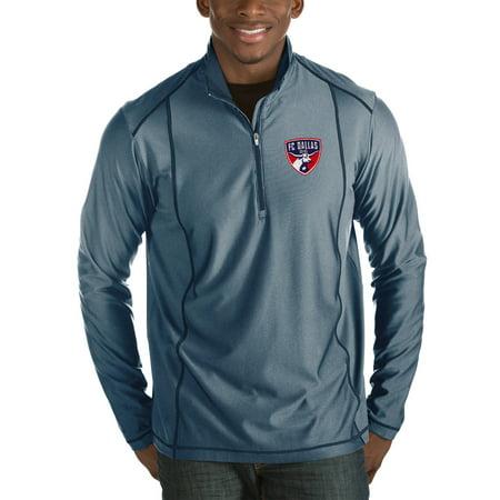 FC Dallas Antigua Tempo Big & Tall Half-Zip Pullover Jacket - Navy ()