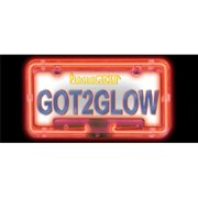 Neon License Plate Frame - RED