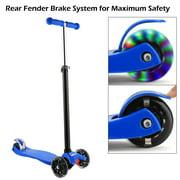3 Wheel Kick Scooter for Kids Boys Girls Adjustable Height Aluminum Alloy