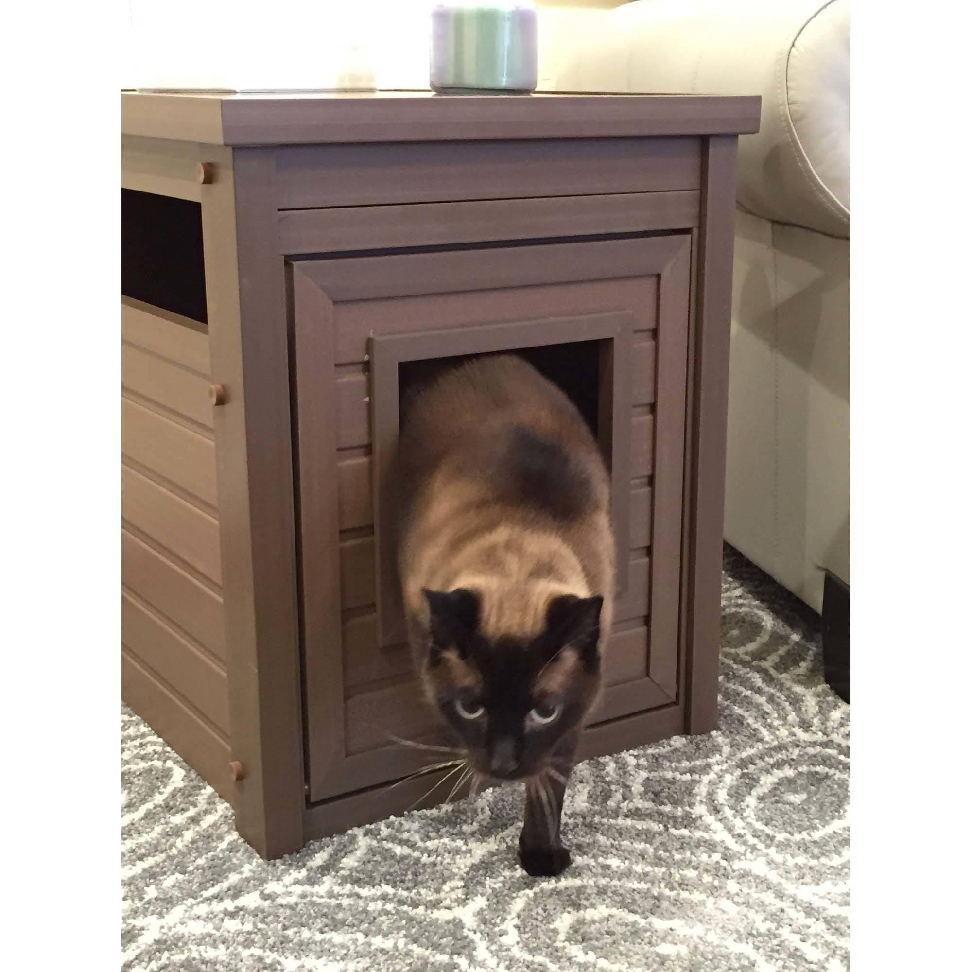 new age pet ecoflex habitat nu0027 home litter loo and jumbo litter loo now in 3 colors for cat russet ecoflex walmartcom - Litter Boxes