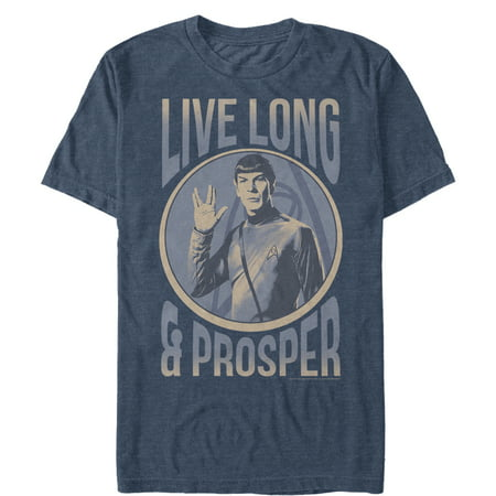 Star Trek Men's Spock Live Long Prosper Circle