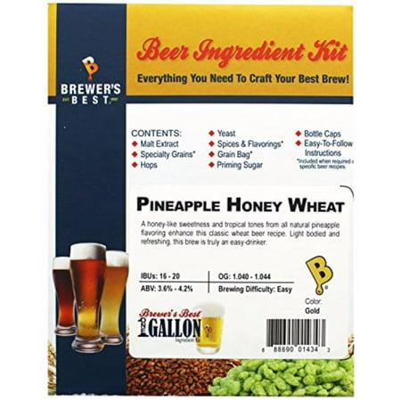 Brewer's Best One Gallon Home Brew Beer Ingredient Kit (Pineapple Honey