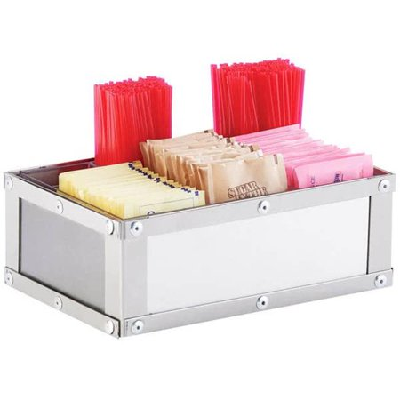 Cal Mil 3398-55 Urban Condiment Packet Holder - Stainless Steel - Silver