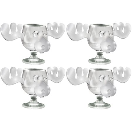 (Set/4) Lampoon's Christmas Vacation Walley World Moose Head Shot Glasses