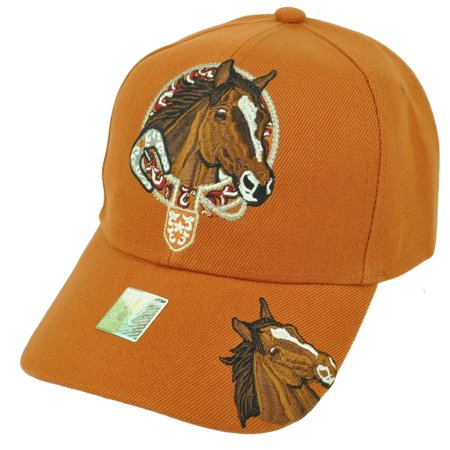 Horse Riding Race Rodeo Animal Mustang Burnt Orange Adjustable Hat Cap Cowboy](Horse Hat)