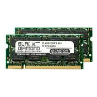 8GB 2X4GB Memory RAM for Dell Inspiron 1440 200pin 800MHz PC2-6400 DDR2 SO-DIMM Black Diamond Memory Module Upgrade