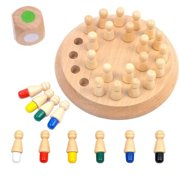 Wooden Stick Chess Memory Match Game,Development Brain Puzzle Toys Disentanglement Game Educational 3D Puzzle Learning Toy Gift