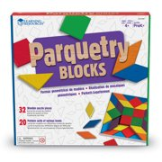 Learning Resources Parquetry Blocks & 20 Pattern Cards, Ages 4+