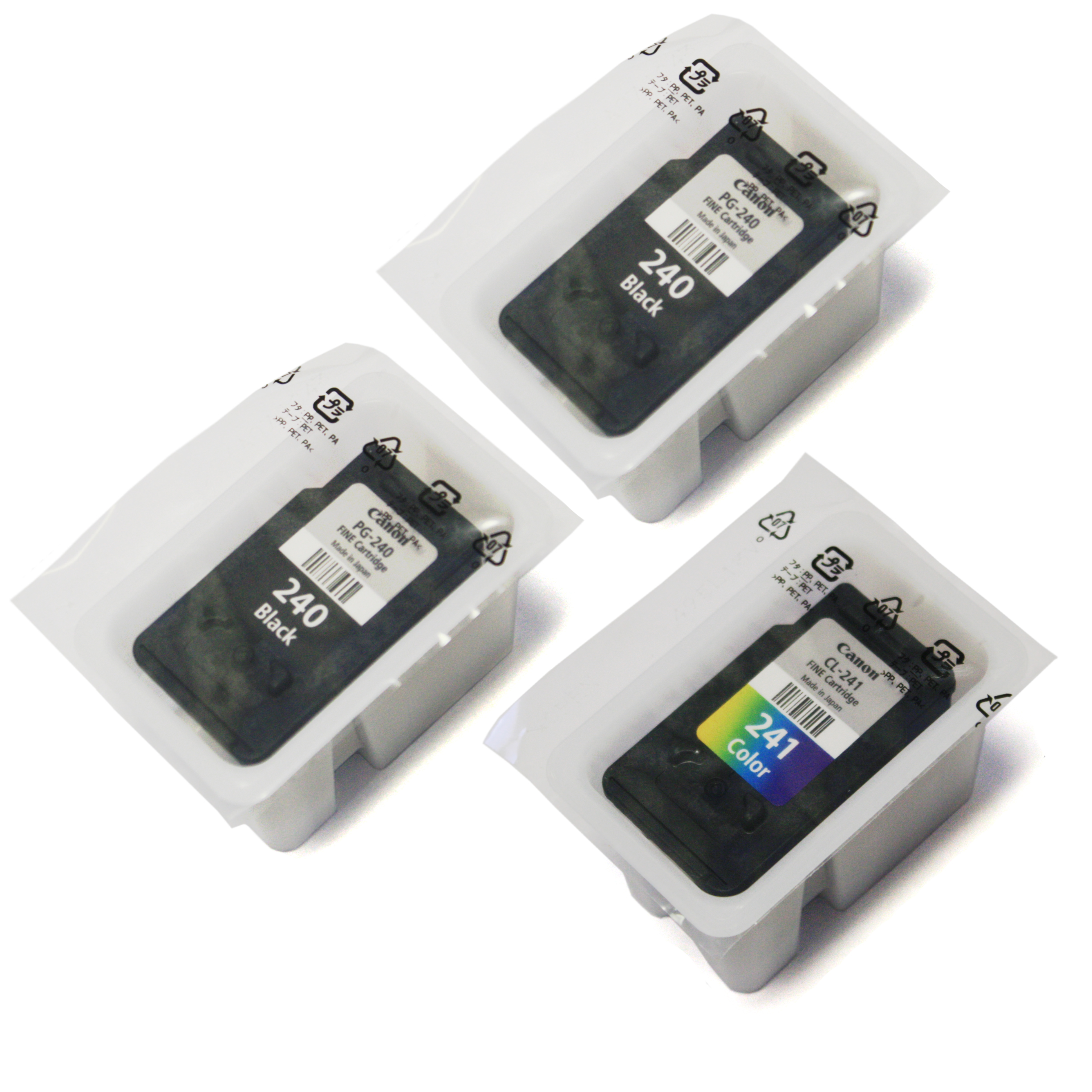 Canon Pixma PG-240 Black x2 & CL-241 - 3 Pack (Bulk Packaging)