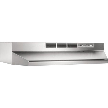 Broan 24 Inch Stainless Steel ADA Capable Non Ducted Under Cabinet Range - 24 Inch Performance Series Hood