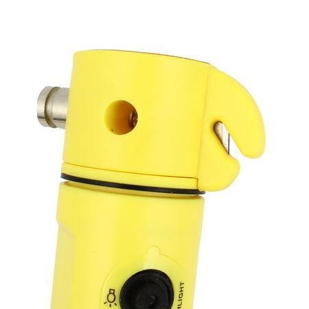 LED Torch Flashlight Window Break Hammer Belt Cutter Auto Car Magnet Safety Tool - image 1 of 4