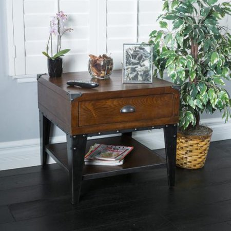 Dresden Dark Oak Ash Veener Side Table