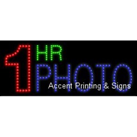 One Hour Photo (1 Hr Photo LED Sign (High Impact, Energy Efficient))