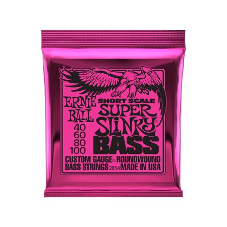 Power Slinky Bass (Ernie Ball Super Slinky Nickel Wound Short Scale Bass Strings - 45-100 Gauge )