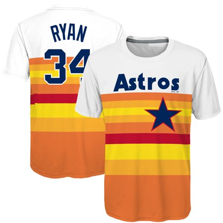 Nolan Ryan Houston Astros Majestic Youth Sublimated Cooperstown Collection Jersey T-Shirt - Orange (Orange Youth Jersey)
