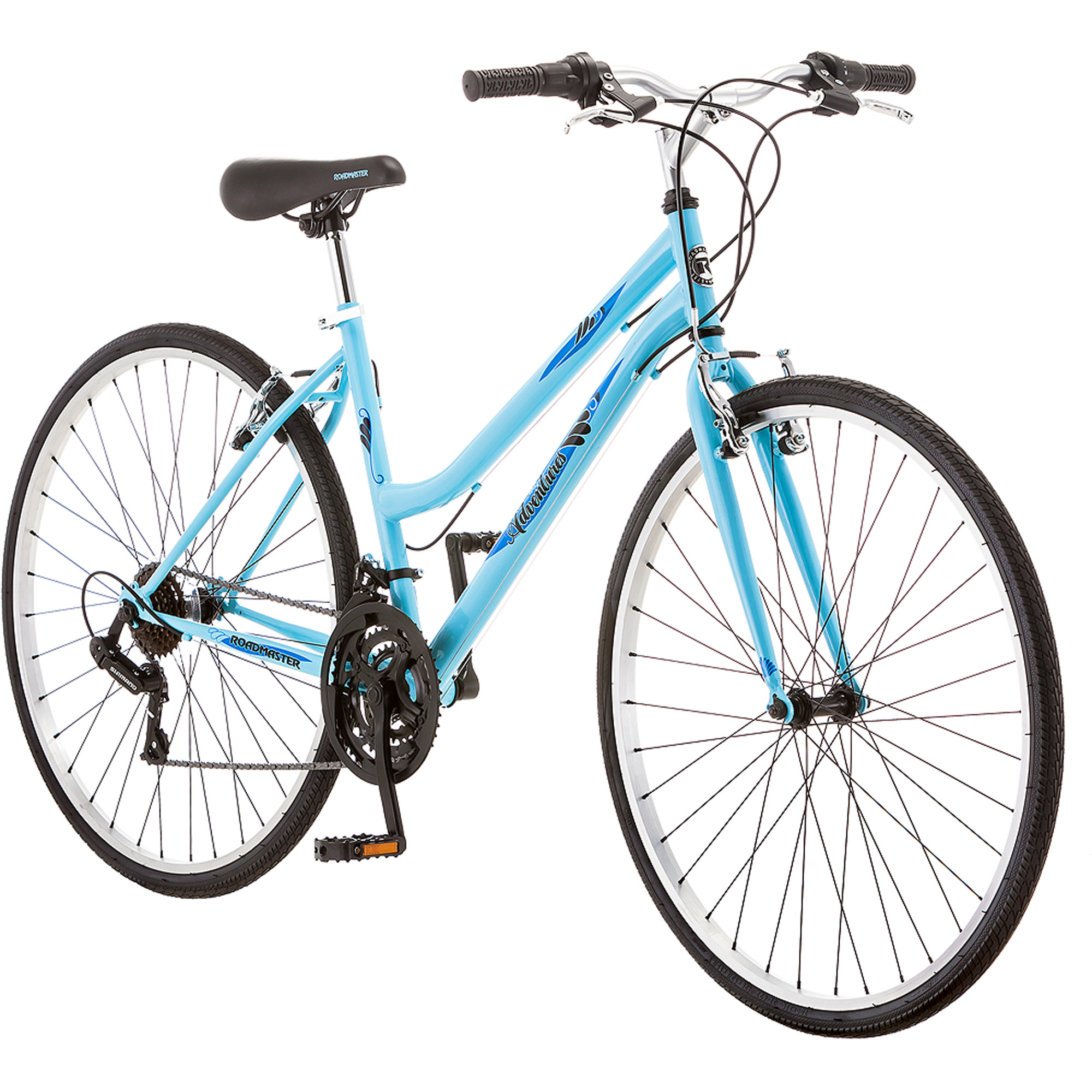 700c Roadmaster Adventures Women's Hybrid Bike, Light Blue