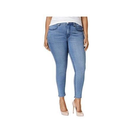 396ccb17304 Melissa McCarthy Seven7 Womens Plus Slimming High Rise Pencil Jeans -  Walmart.com
