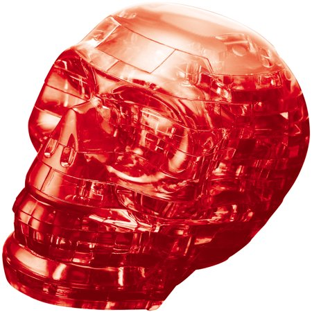 3D Crystal Puzzle Red Skull Puzzle, 48 Pieces (Halloween 3d Screensavers)