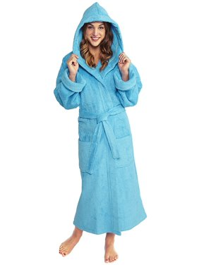 45a1e1617b Product Image TurkishTowels Parador Women s Big and Tall Full Ankle Length  Turkish Terry Hooded Cotton Bath Robe
