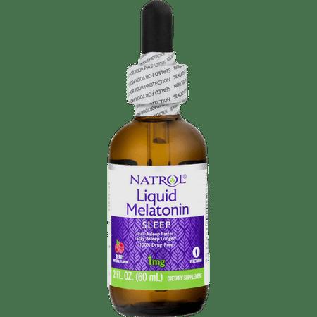 Natrol Melatonin 1mg Liquid, 2 Fluid Ounce (Melatonin Solution)