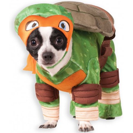 TMNT - Michelangelo Pet Costume](Turtle Pet Costume)