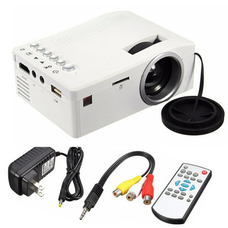 UNIC High definition  400LM Mini Moveable Projector Residence Multimedia LED Dwelling Theater Cinema USB Tv set HDM SD AV AUX for PS4/XBOX/Tv set BOX Fire Television Stick/Apple iphone/iPad/Android/Laptop/DVD Movie Match
