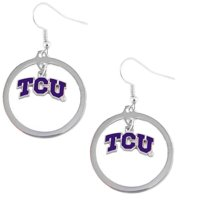 TCU Texas Christian Horned Frogs Hoop Sports Team Logo Earring Set NCAA Charm