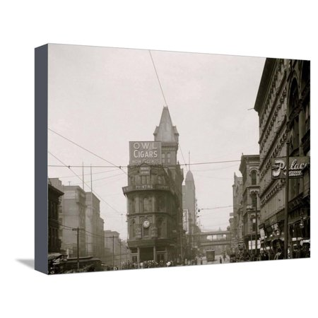 Junction of Main and Delaware Sts., Kansas City, Mo. Stretched Canvas Print Wall Art - Party City Delaware