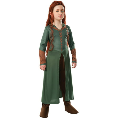 Childs Girls The Hobbit Smaug Tauriel Elf Warrior Princess Costume Large 12-14 - Hobbit Costumes For Kids